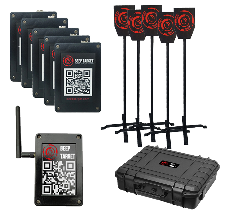 Set Beep Target for airsoft and paintball with composite targets and racks