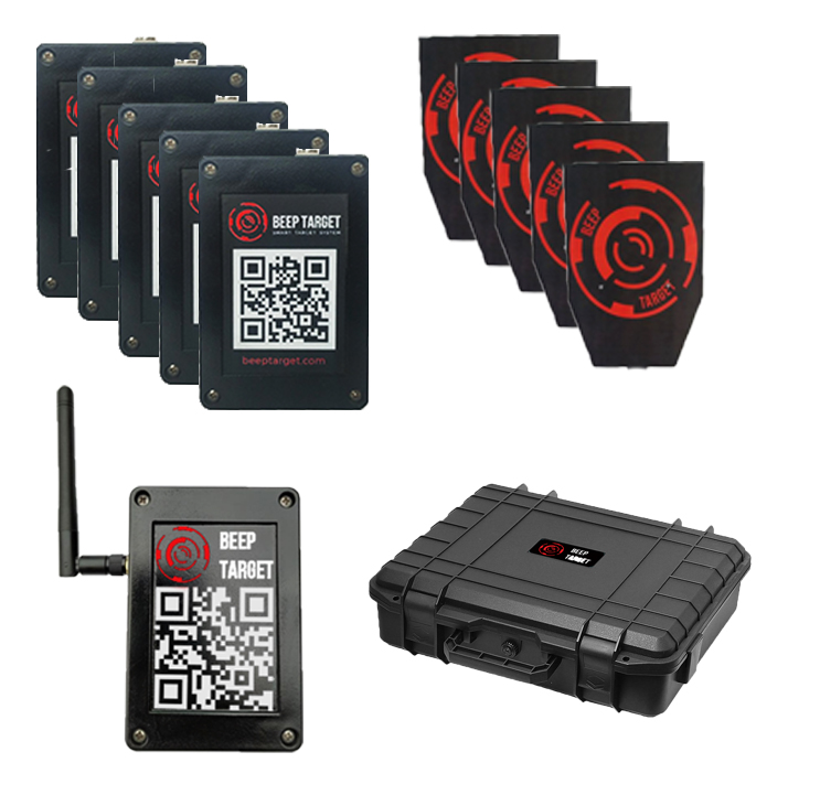 Set Beep Target for airsoft and paintball with composite targets